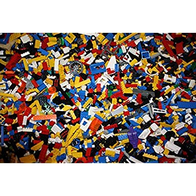Lego Bulk Lot Bricks and Parts 1 Lb Pound 200+pieces: Toys & Games