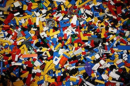 Lego Lot of 200 Pieces Parts Bricks Random From Huge Bulk Assorted Clean S.T.E.M
