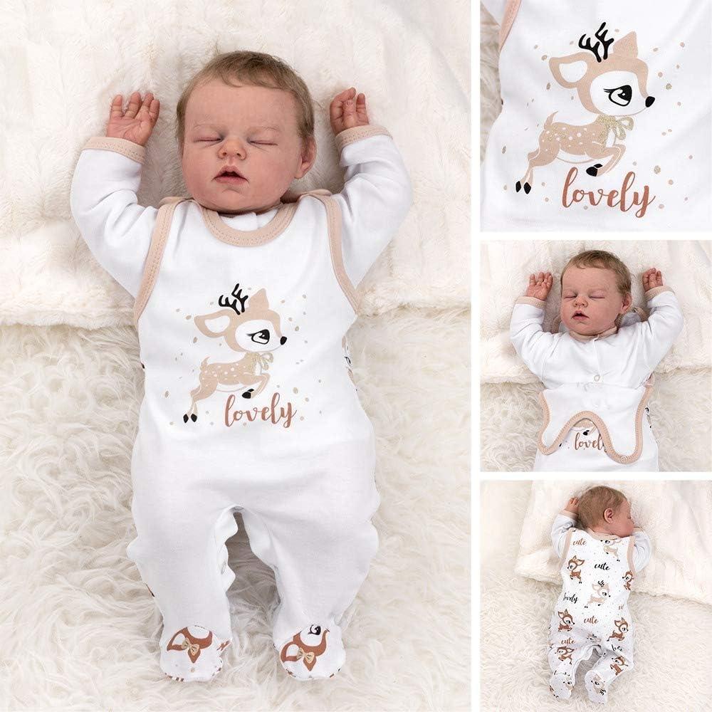 Baby Sweets 3 Teile Set Strampler Shirt Mütze Unisex gelb braun rot Baby Giraffe