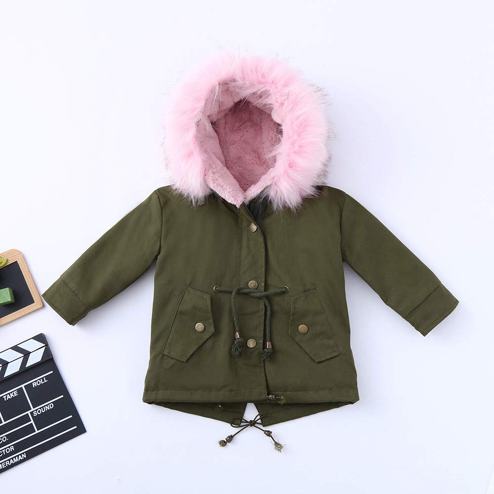 Amazon.com: Toddler Baby Girl Boy Winter Cotton Hooded Jacket Overcoat Kid Warm Padded Thick Outerwear Clothes 2-7 Years Old: Clothing