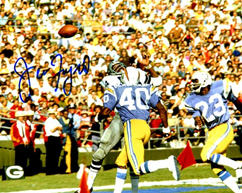Autographed Jean Fugett 8x10 San Diego Chargers Photo (Chargers San Diego Denim)