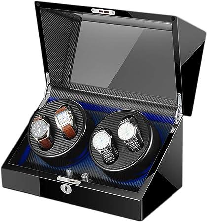 Caja Relojes Automaticos, Relojes AutomáTicos Watch Winder, con Motor Silencioso Cajas Giratorias Estuche bobinadora para Relojes, Caja de Almacenamiento para Relojes o Joyeria Organizadora C-2: Amazon.es: Hogar