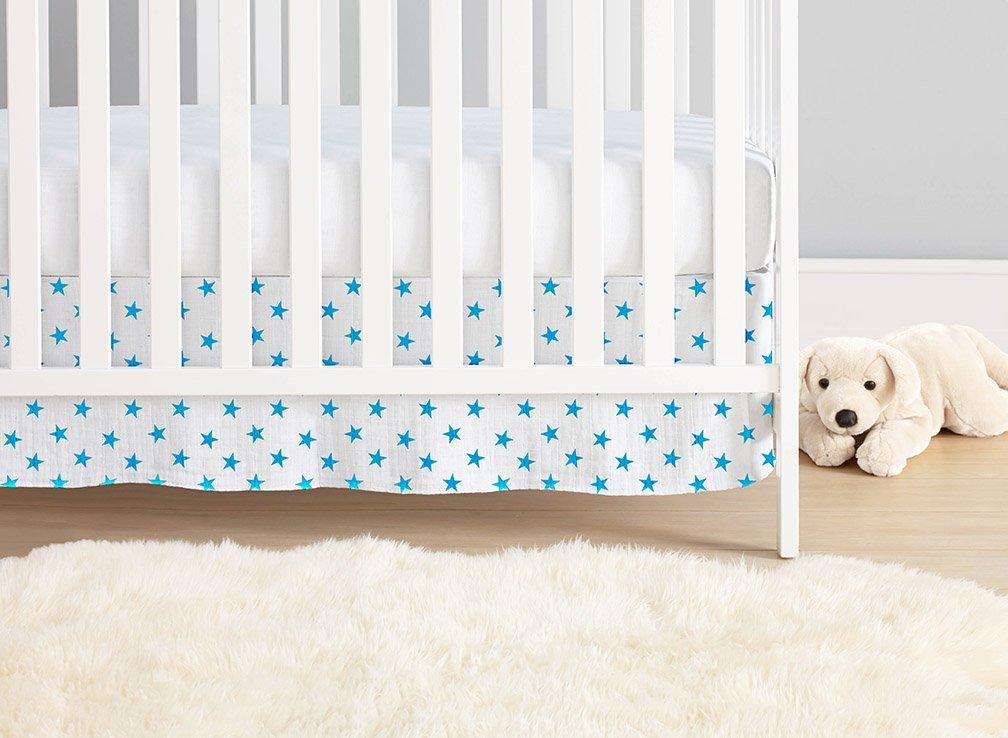 aden + anais Classic Crib Skirt, Fluro Blue 8564