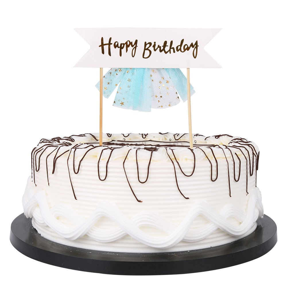 Amazon Happy Birthday Cake Bunting Topper Cake Topper Garland