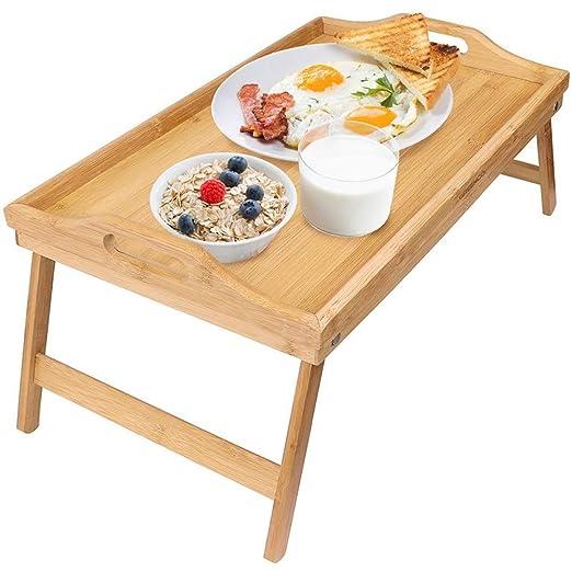 Lapdesks Plegables Mesa de Desayuno Plegable de bambú, Escritorio ...
