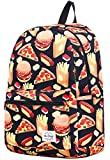 hotstyle TRENDYMAX Cute Backpack for School | 16'x12'x6' | Holds 15.4-inch Laptop | Hamburgers