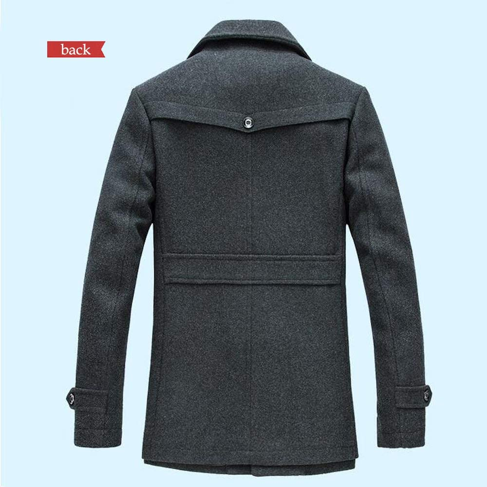 Winter Mode Normale Passform Jacke W/ärme Freizeit Tweed Trenchcoat Peacoats KINLOU Herren Mantel