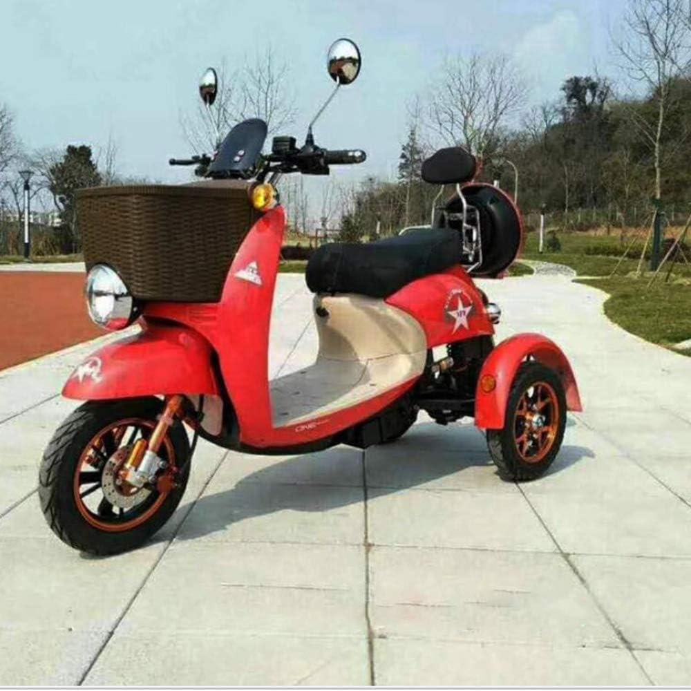 MMRLY Triciclo eléctrico, Adulto 3 Rueda de Bicicleta Vespa, 500W / 60V 20A batería de Litio / 45KM / H/Carga de 180 Kg, para Hombres de Edad Avanzada Las Mujeres con discapacidad
