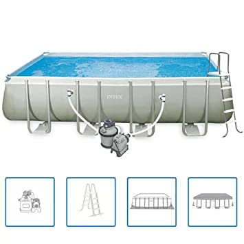 Intex Ultra Frame - Piscina rectangular 549 x 274 x 132 cm 28352GN ...