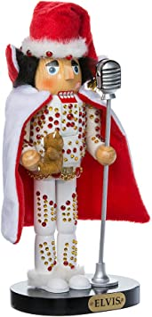 Amazon.com: Kurt Adler Elvis en blanco traje Nutcracker ...