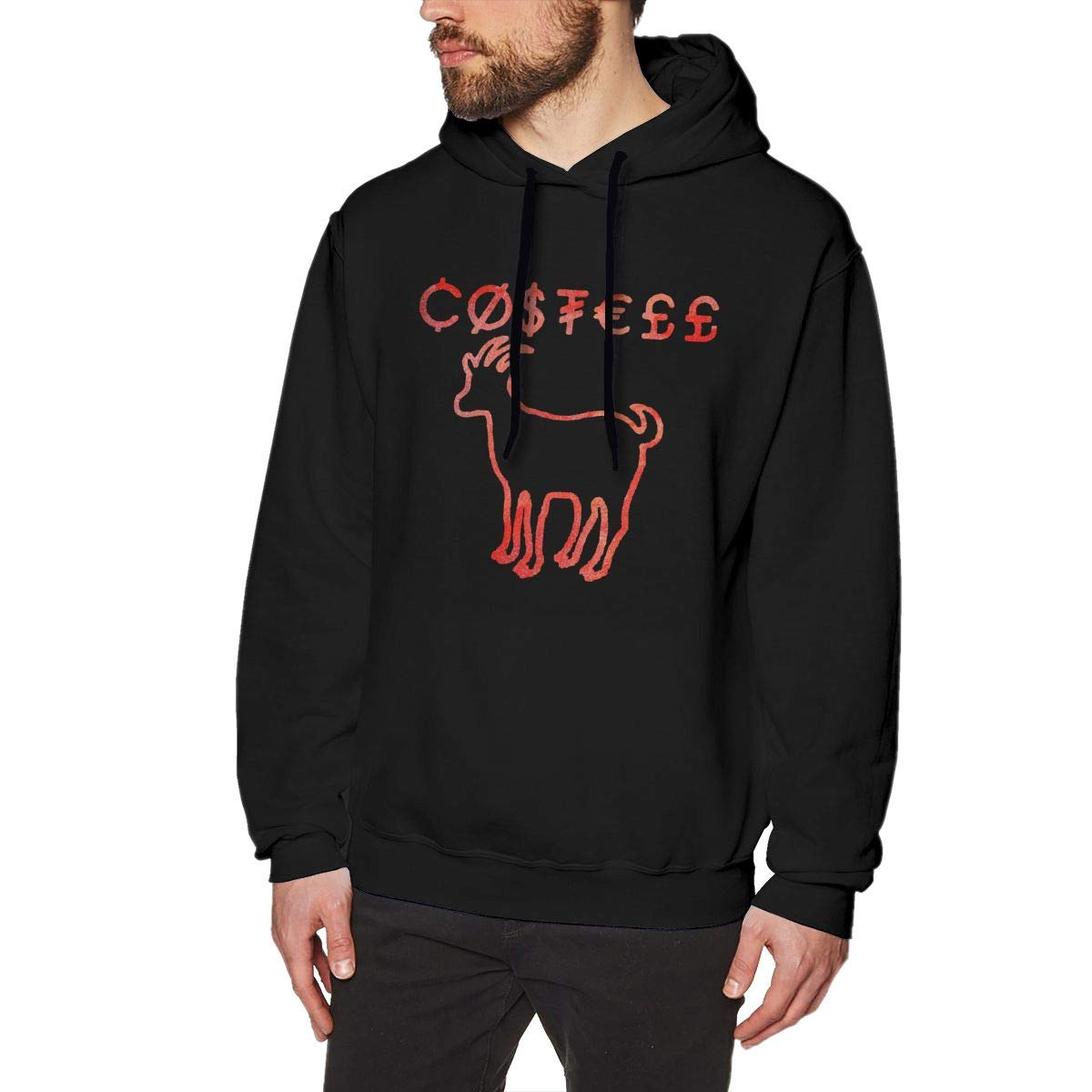 Mens Hooded Sweatshirt Classical Elegance and Originality Erika Costell Logo Black 3XL