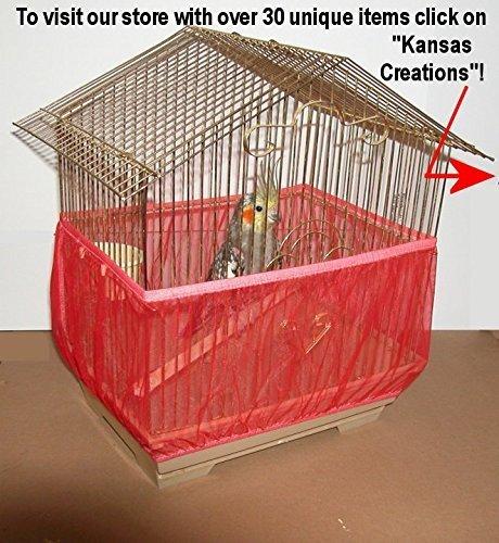 (Red) Sheer Guard Bird Cage Skirt Medium Size