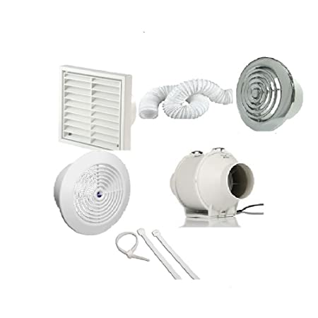 Peachy Bathroom Fan Kit Loft Ceiling Mounted Extractor Duct Vent With Timer 4 100Mm Download Free Architecture Designs Scobabritishbridgeorg