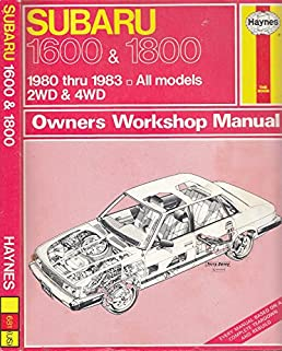 subaru owners workshop manual 1600 1800 1980 thru 1983 all rh amazon com On a 2000 Subaru Outback Warning Lights Vehicle Owner's Manual
