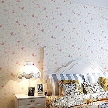 btjc tela no Tela niña papel pintado de flores jardín rosa Camera de ...