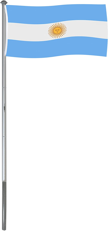 BRUBAKER Mástil Aluminio Exterior 6 m Incluye Bandera de Argentina 150 x 90 cm y Soporte de Tierra: Amazon.es: Jardín