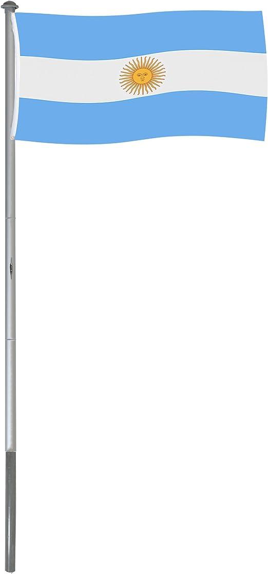 BRUBAKER Mástil Aluminio Exterior 6 m Incluye Bandera de Argentina ...