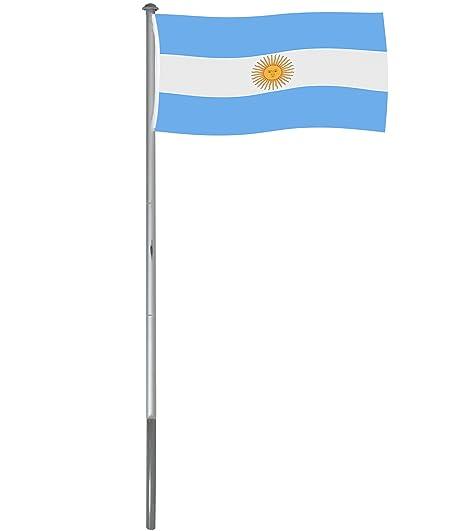 Brubaker Mástil Aluminio Exterior 4 m Incluye Bandera de Argentina 150 x 90 cm y Soporte