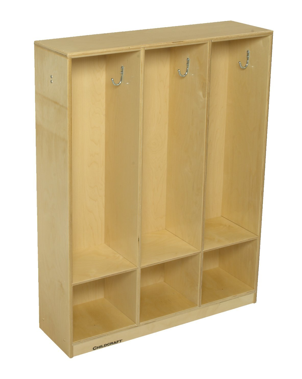Childcraft Coat Locker, 3 Sections, 32-1/2 x 9-5/8 x 42 Inches