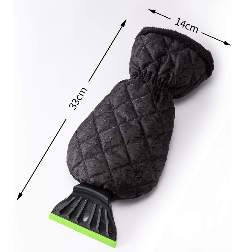QUEES Car Ice Scraper with Glove Windscreen Scraper for Ice and Snow Removal from Windshield