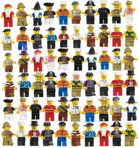 Grab Bag Lot of Minifigures Figures Men People Minifigs from City Sets 20 Pcs ()