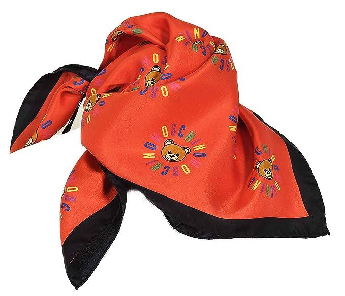 MOSCHINO - Foulard femme Ours rouge  Amazon.fr  Vêtements et accessoires 910dd172ef15