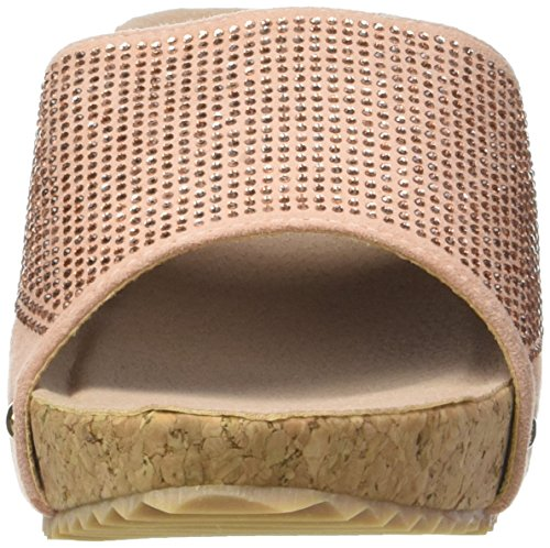 Angkorly - Zapatillas de Moda Mules Sandalias zapatillas de plataforma mujer strass tachonado corcho Talón Plataforma 5 CM - Rosa