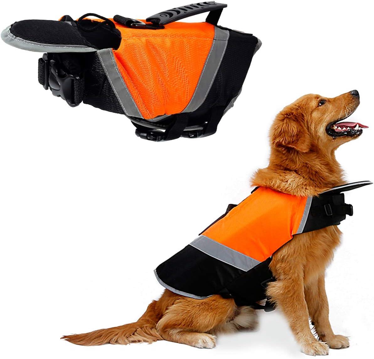 XS Vivaglory Dog Life Jackets Pet Life Vest Lifesaver Dog Life Preserver with Extra Padding for Dogs Bright Orange