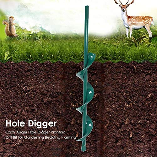 Earth Auger Hole Digger Planting Drill Bit for Gardening Bedding Planting Garden Tool