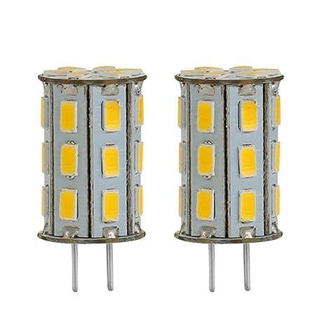 GY6.35 LED 12V DC/AC 5W als Ersatz für 35W Halogen Lampen ZSZT Warmweiß 3000K für Schreibtischlampe, Kristall Scheinwerfer-Bi