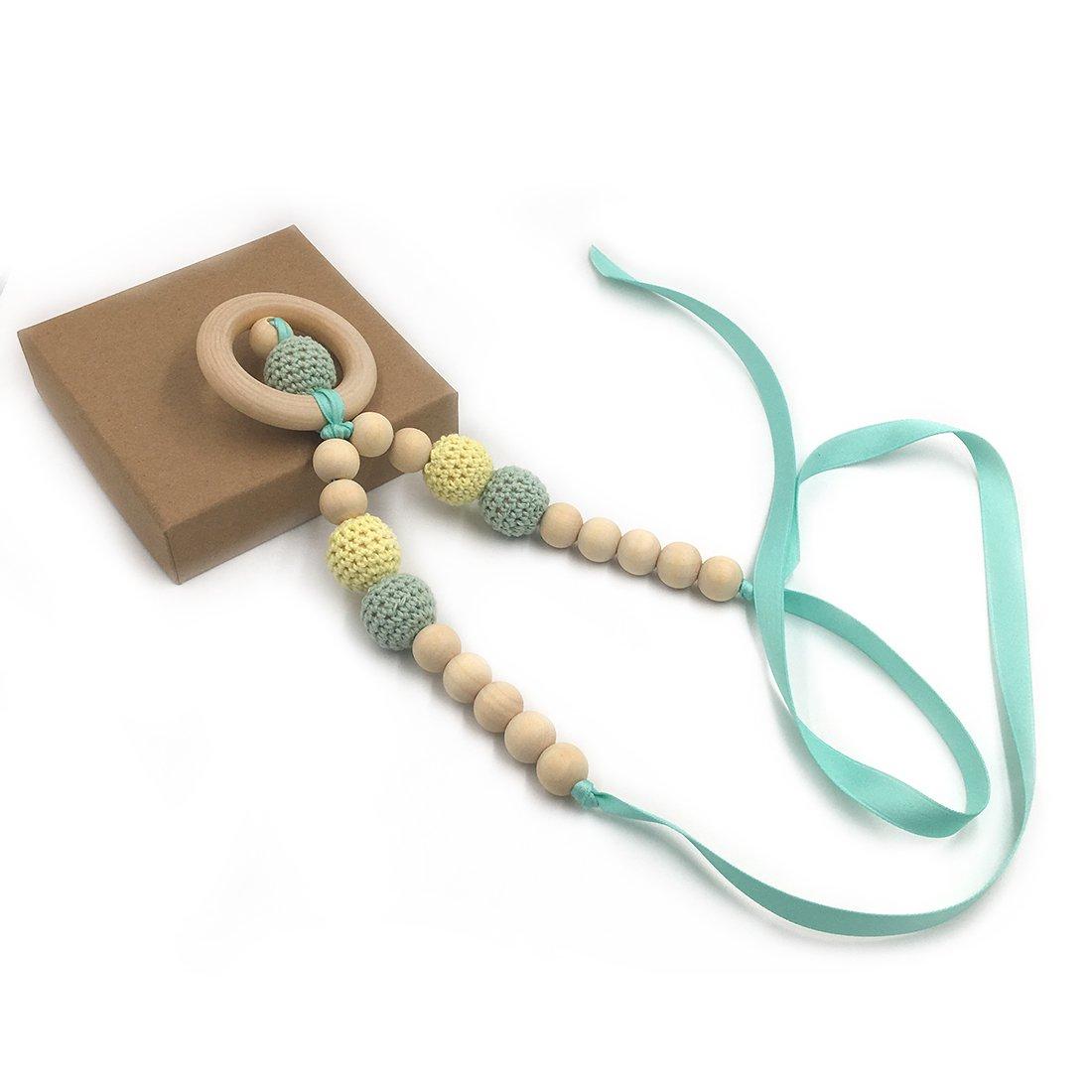 Coskiss Collares de ganchillo Collar de dentición de bebé ...