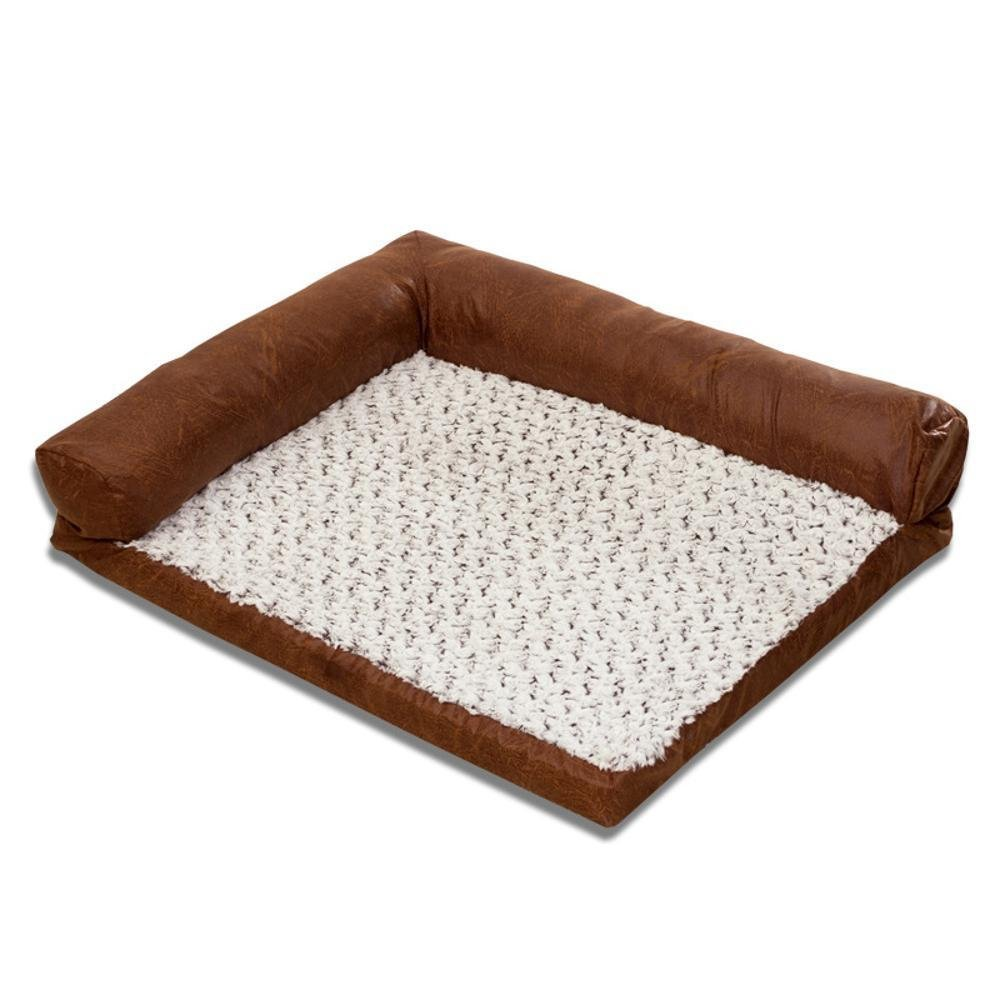 A 1059020cm A 1059020cm YunYilian Pet Bolster Dog Bed Comfort Dog Sofa Washable Kennel Pet Bed Pet Supplies (color   A, Size   105  90  20cm)