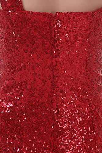 Shoulder lang Emily Party Schleifen Kleid Pailletten Rot Beauty Zug One 8UX1wq0