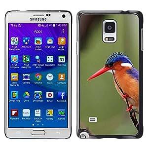 TopCaseStore / la caja del caucho duro de la cubierta de protección de la piel - Beak Feathers Green - Samsung Galaxy Note 4 SM-N910F SM-N910K SM-N910C SM-N910W8 SM-N910U SM-N910