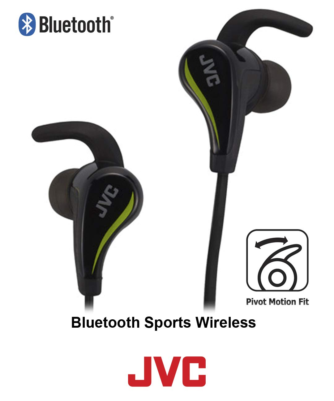Amazon.com  JVC Wireless Pivot Motion Sport Headphone (Black) HA-ET50BTB   JVC  Electronics bc5d370927