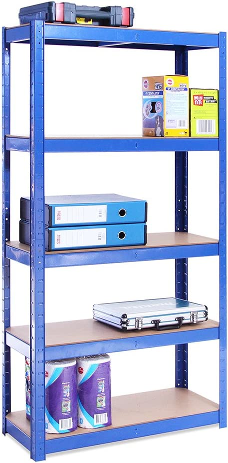 G-Rack 0020-1 Estantería de Almacenamiento, Azul, 150cm x 75cm x 30cm
