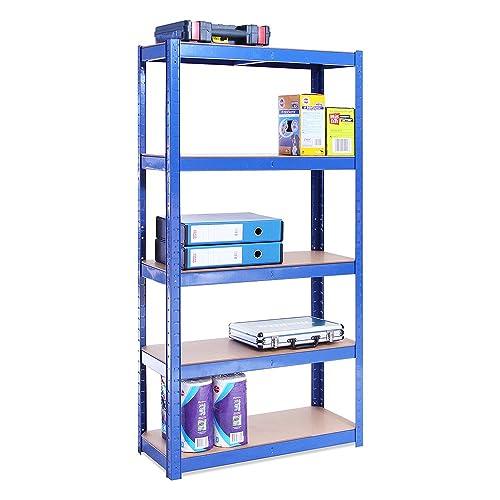 150cm X 75cm X 30cm, Blue 5 Tier (175KG Per Shelf), 875KG