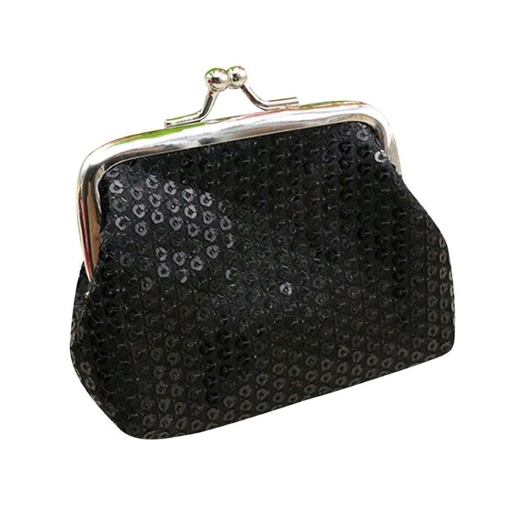 1505da89c4a Toamen Billetera PequeñA Con Lentejuelas Para Mujer Tarjetero Monedero Bolso  De Embrague (A)  Amazon.es  Ropa y accesorios