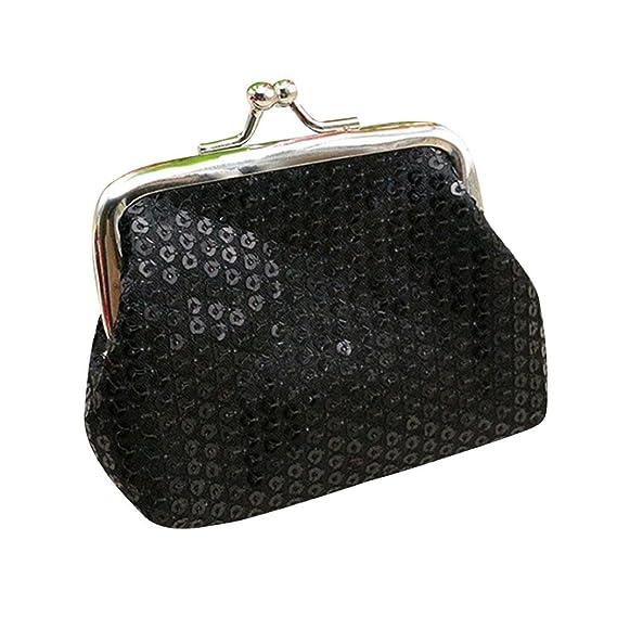 Toamen Billetera PequeñA Con Lentejuelas Para Mujer Tarjetero Monedero Bolso De Embrague (A): Amazon.es: Ropa y accesorios