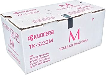 Kyocera 1T02R9BUSV Model TK-5232M Magenta Toner Cartridge for M5521cdw and P5021cdw, Genuine Kyocera, Up To 2200 Pages