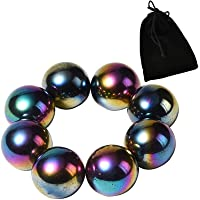 NICO SEE WONDER 1Inch 25mm Rainbow Magnetic Stones, 8Pieces Magnets Fidgeting Toys with Bag, Hematite Magnetic…