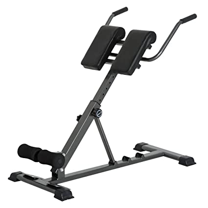 Soozier Adjustable Hyperextension Roman Chair Folding Abdominal Back  Extension Bench Exercise Machine Home Gym Fitness
