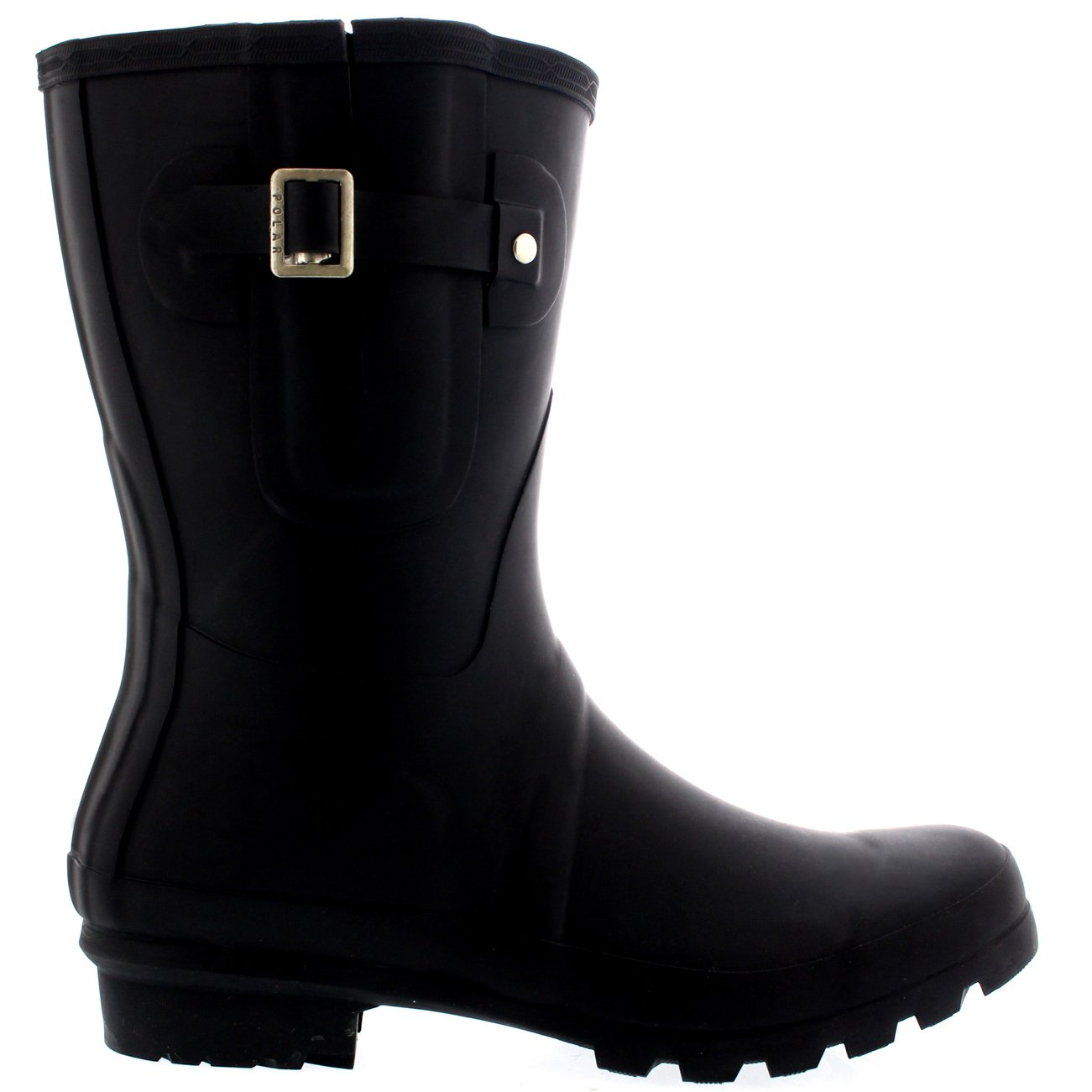Polar Mens Adjustable Side Rubber Waterproof Rain Wellingtons Boots - Black - US13/EU46 - BL0232 by Polar Products (Image #4)