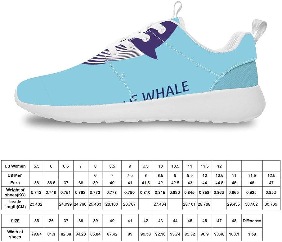 Mesllings Zapatillas de Running Unisex con diseño de Ballena Azul de Dibujos Animados (8) Zapatos Deportivos Ligeros para el Aire Libre, Color Multicolor, Talla 38 2/3 EU: Amazon.es: Zapatos y complementos