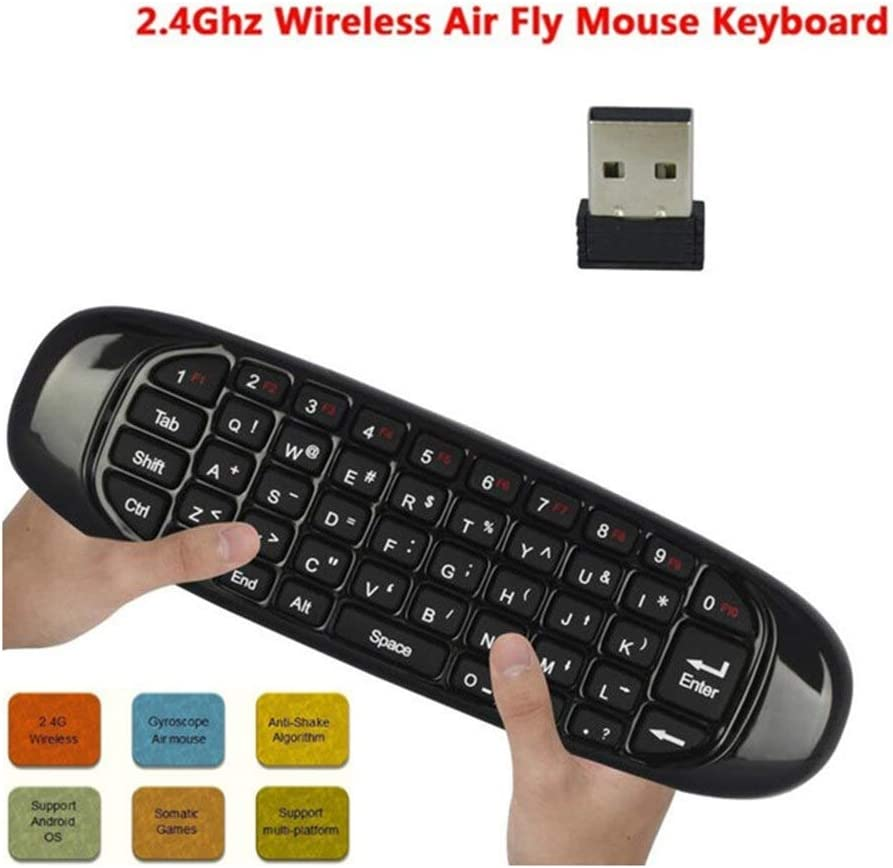 Color: A Calvas Backlit Air Mouse Smart Voice Remote Control 2.4G RF Wireless Keyboard Compatible for X96 Mini KM9 WIF66
