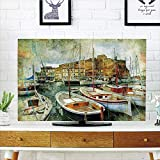Best As Seen On TV Headphones For Tvs - iPrint LCD TV Cover Lovely,Marine,Naples Small Boats at Review