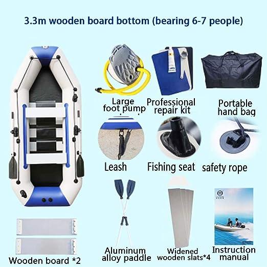 HEIFEN Bote Inflable de 7 Personas Engrosado Barco de Pesca ...