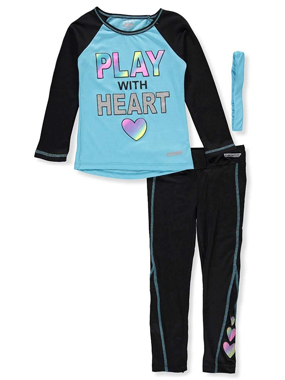 Hind Girls' 2-Piece Performance Leggings Set Outfit with Headband