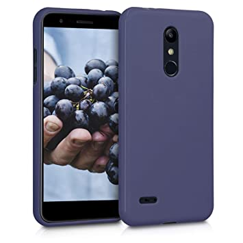 kwmobile Funda para LG K11 / K11+ - Carcasa para móvil en TPU Silicona - Protector Trasero en Azul Oscuro Mate