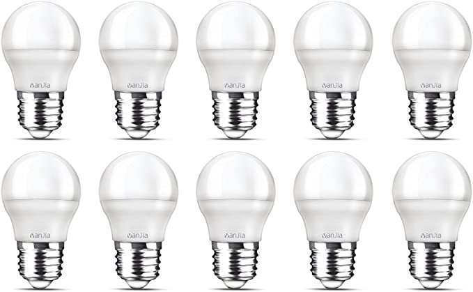 10 Pack bombilla LED G45, E27, 470 lúmenes, 5 W, 6500 K, luz ...